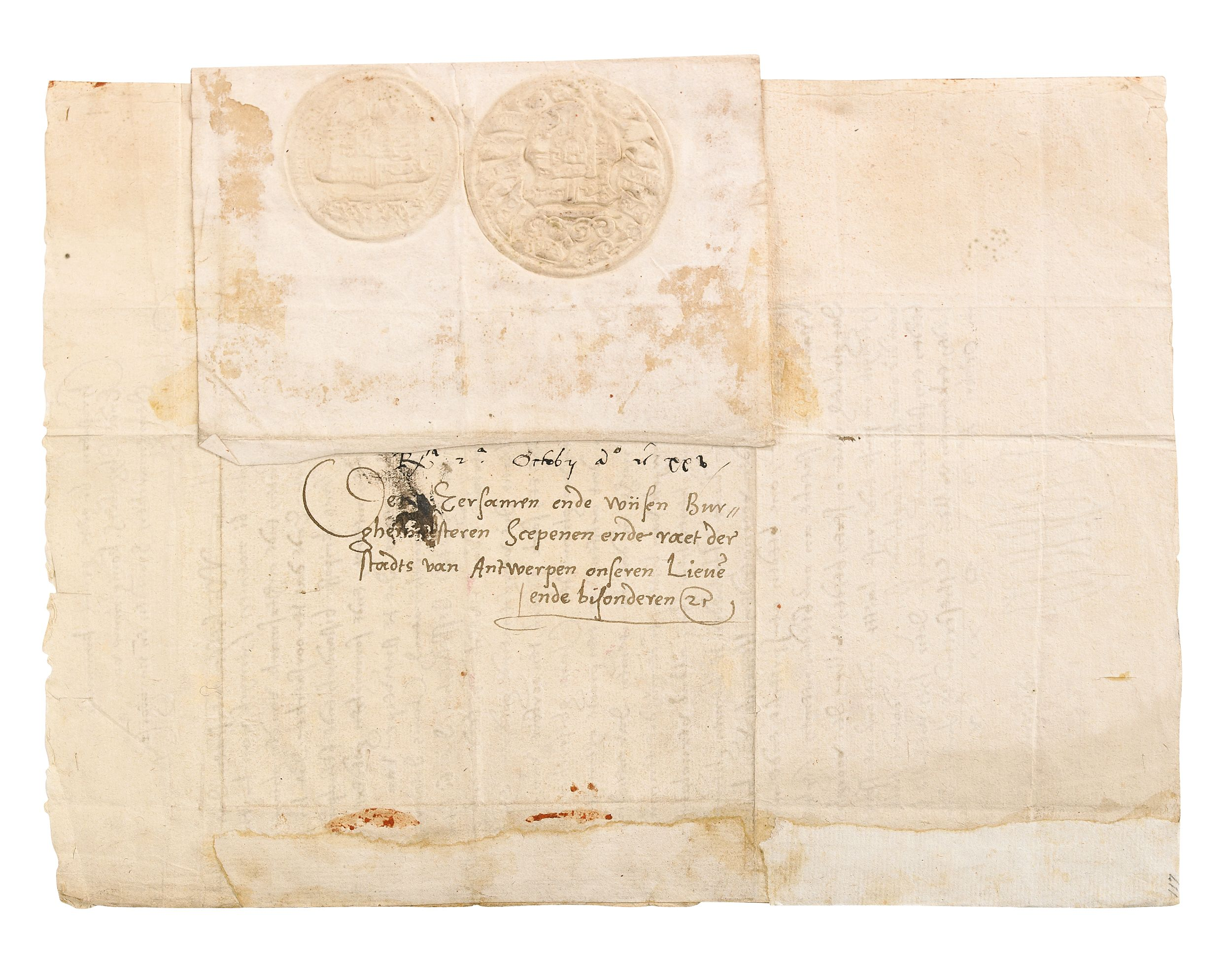 Rare signed document of Christian the Tyrant 1520