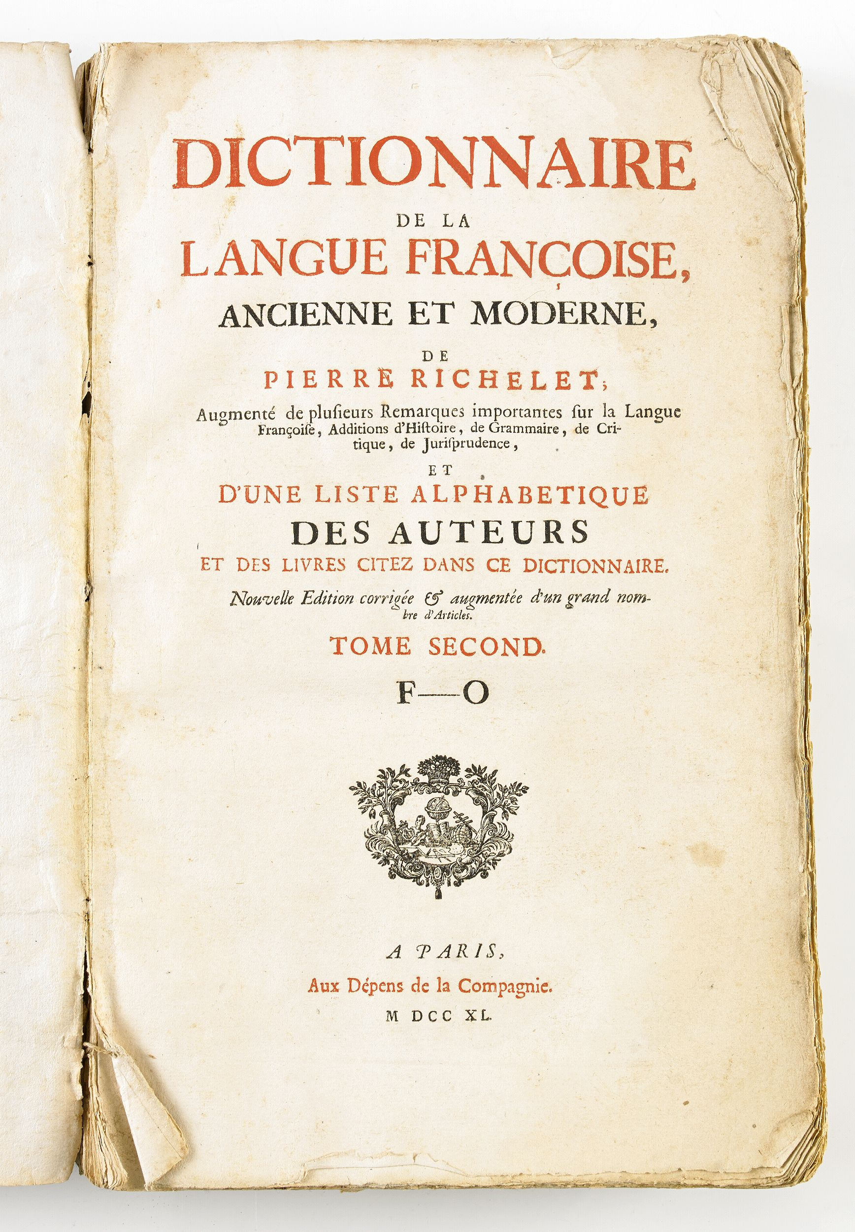 Richelet's classical French dictionary