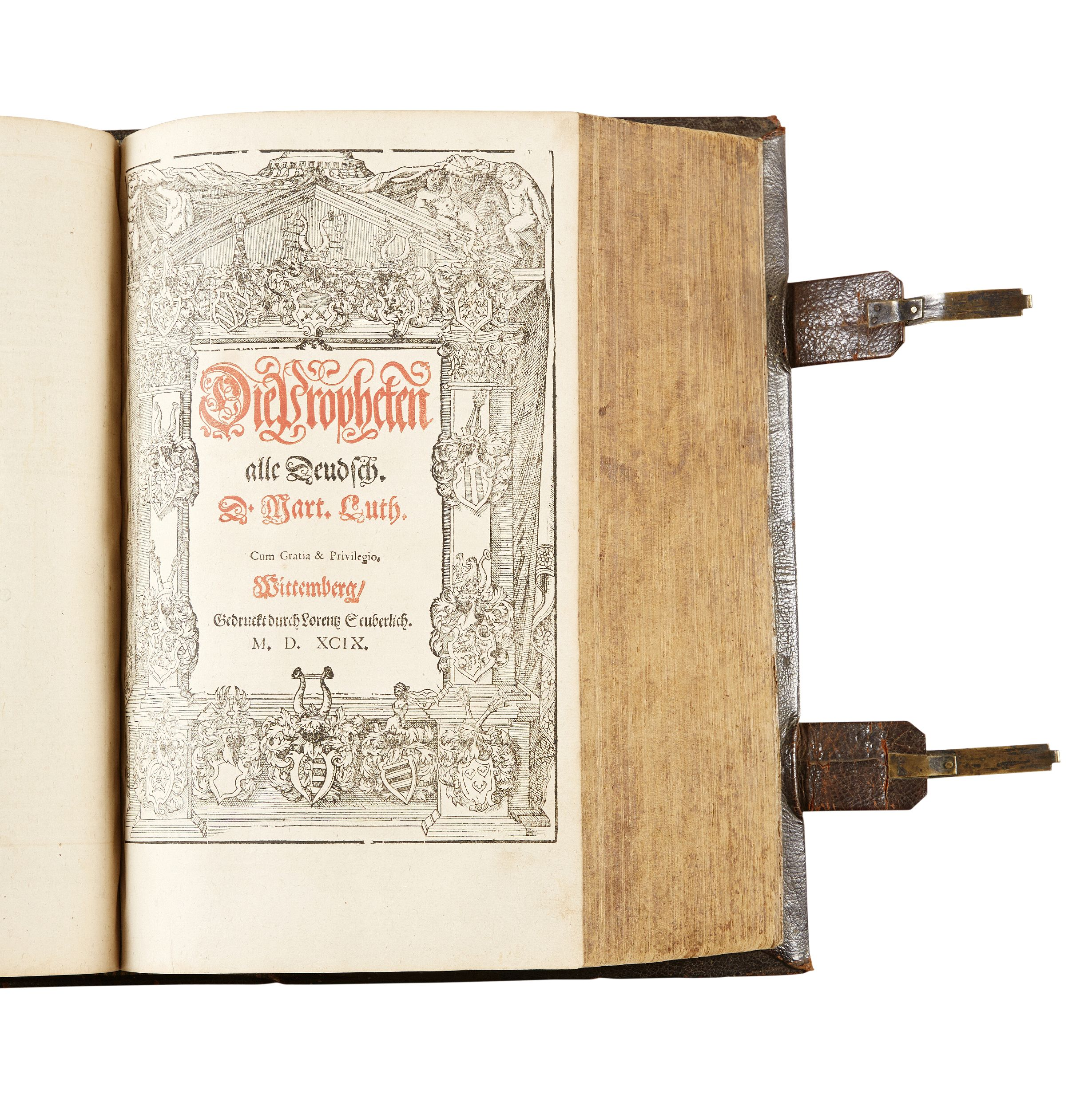 Illustrated German 16th century bible