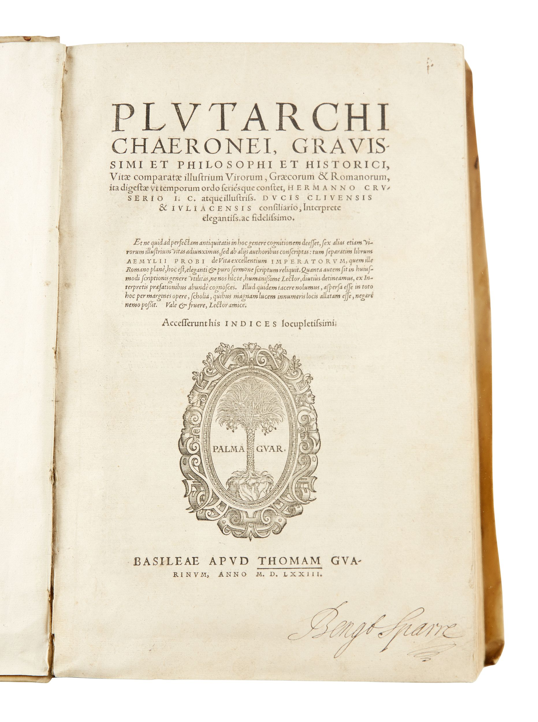 Plutarch's Lives Basle 1573