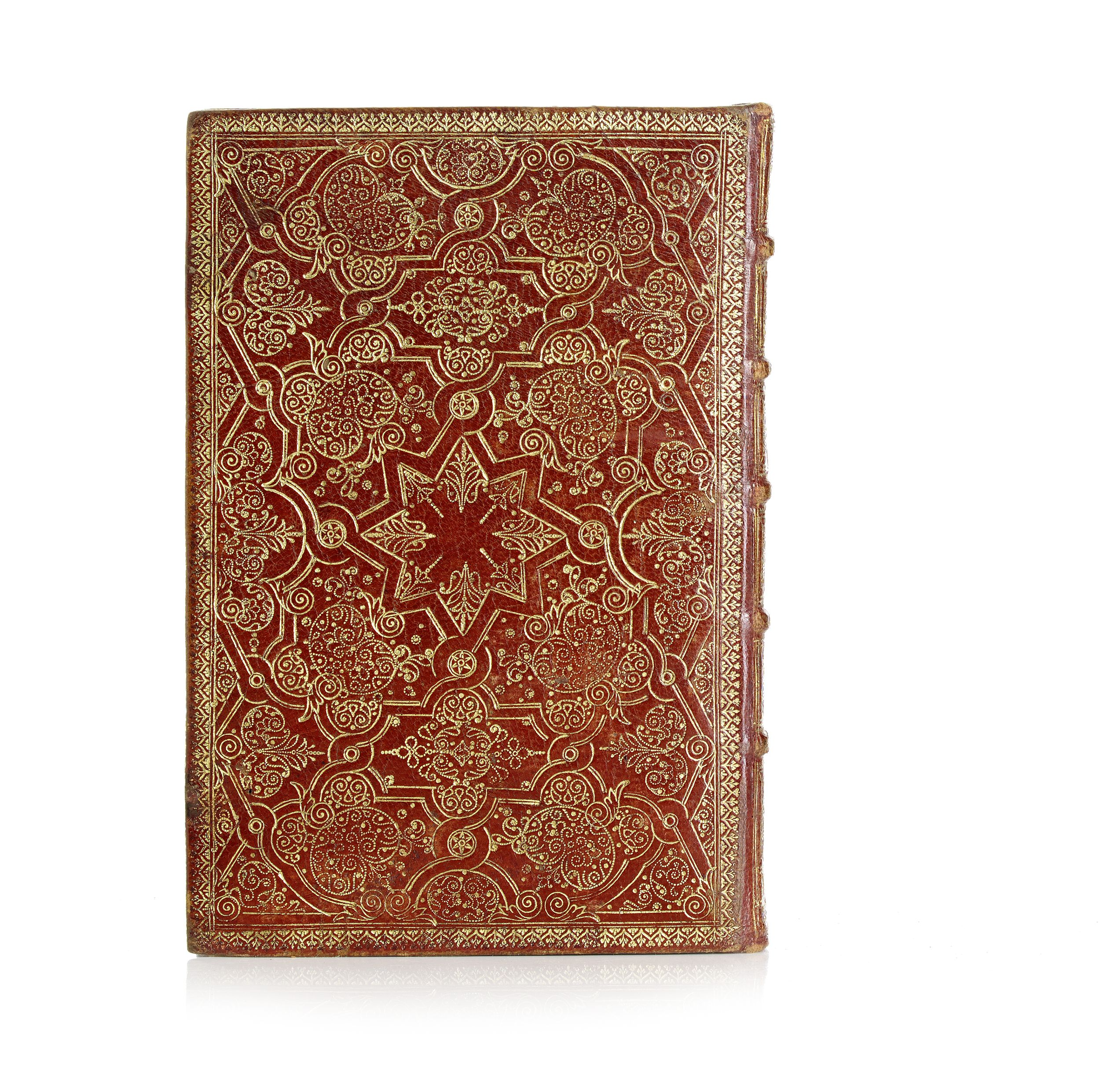 Beautiful binding in red morocco