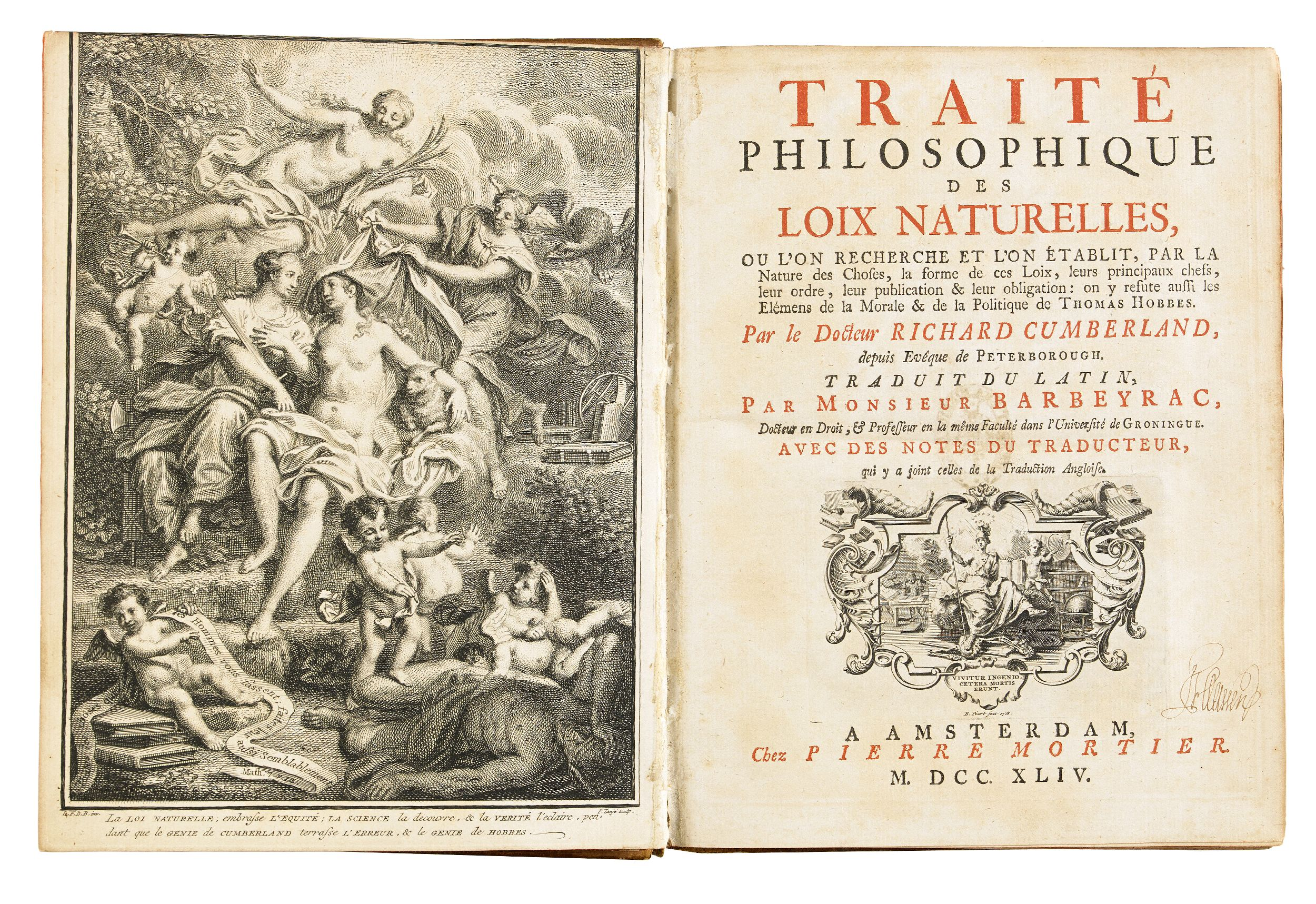 """Philosophical tract on the """"Loix naturelle"""""""