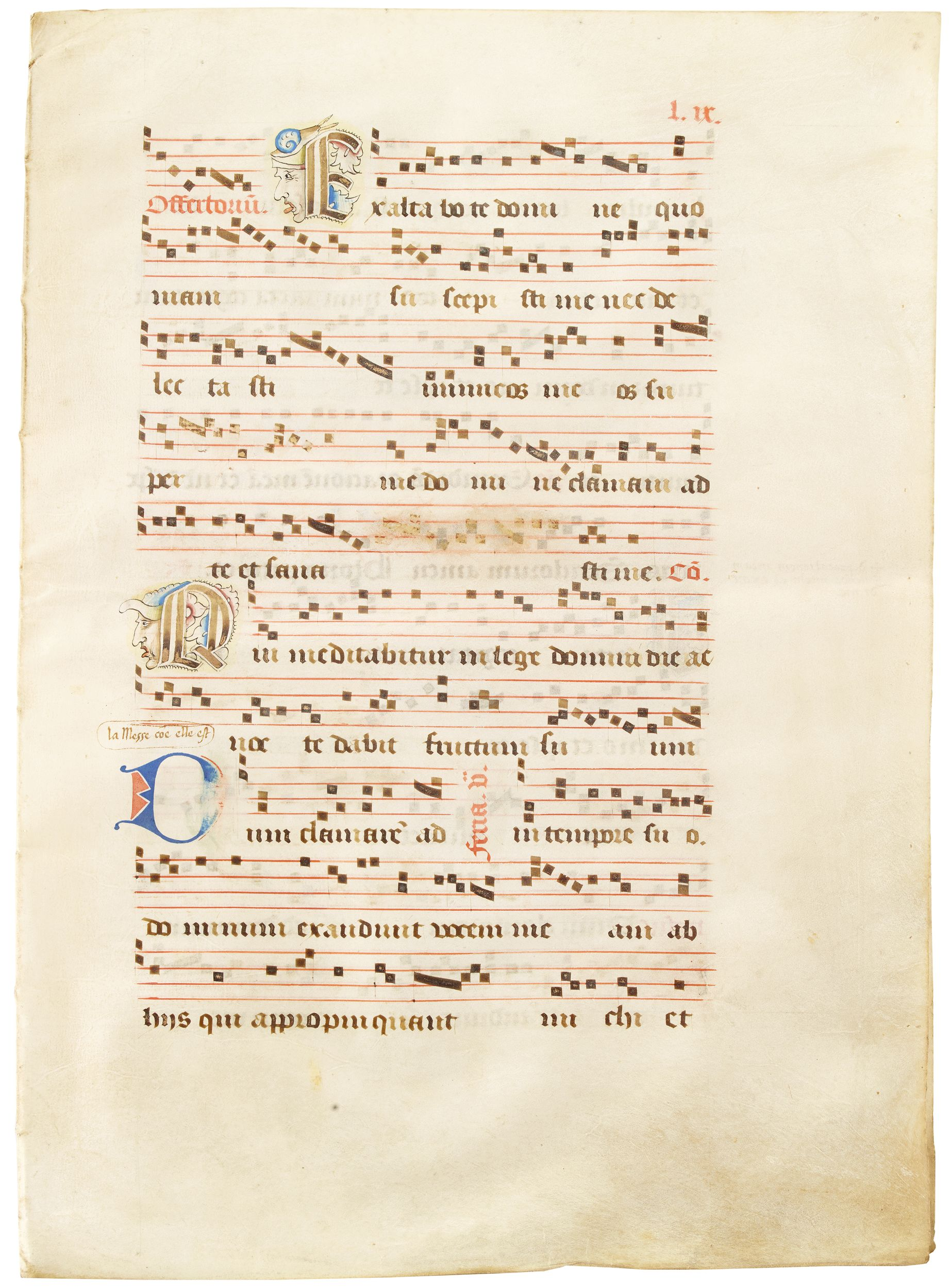 Double-page of German or Bohemian Antiphonal