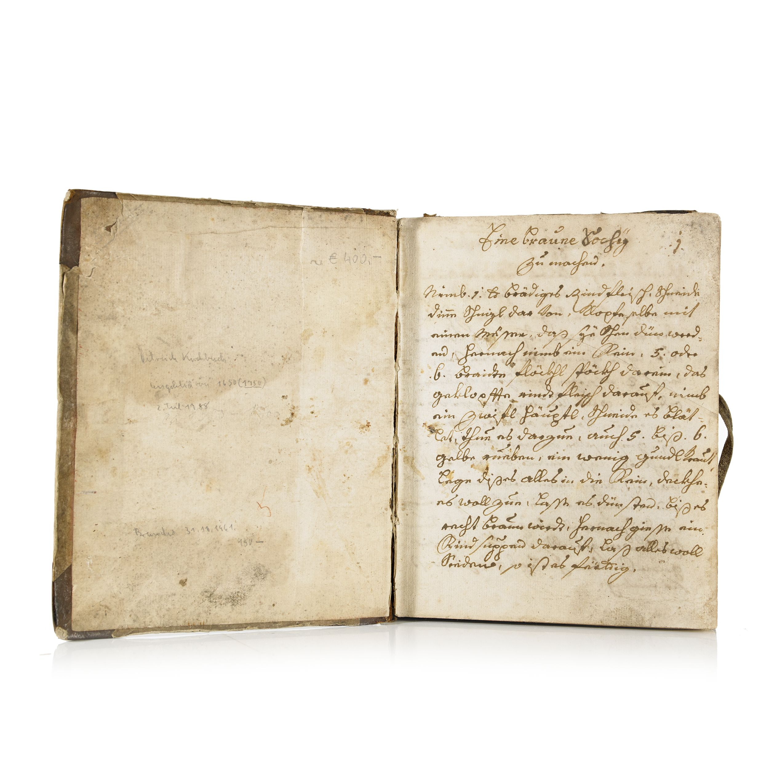 Manuscript on cookery