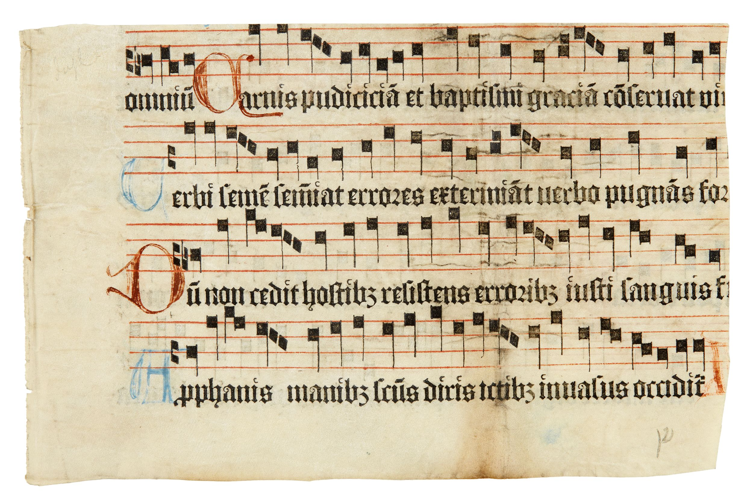 Fragment ur Graduale Arosiense 1493