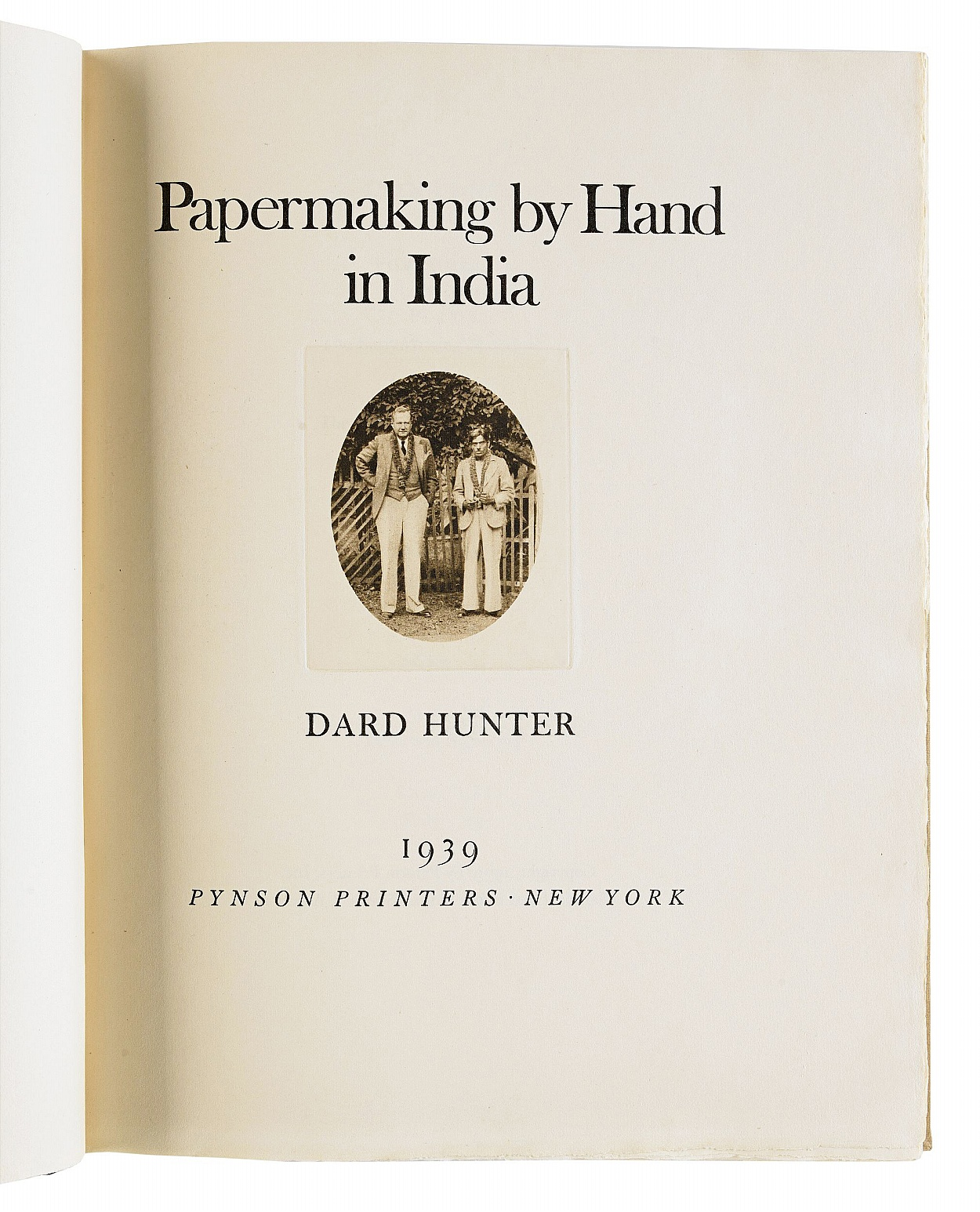 Dard Hunter on Papermaking by Hand in India