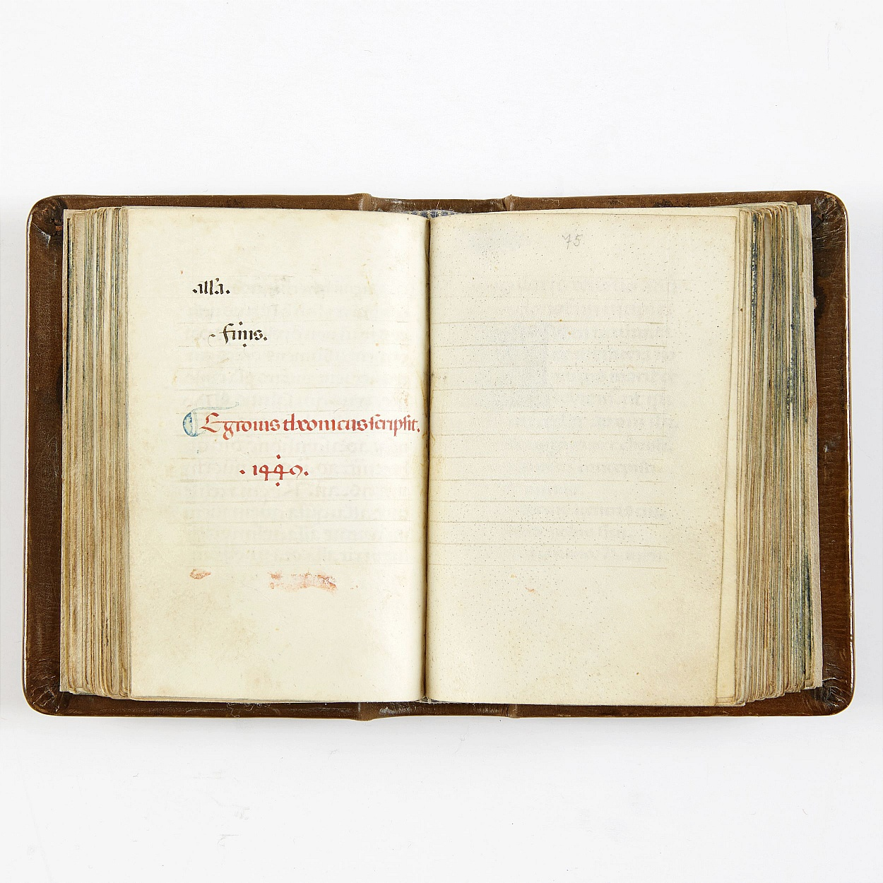 Book of Hours dated 1449 probably Florence