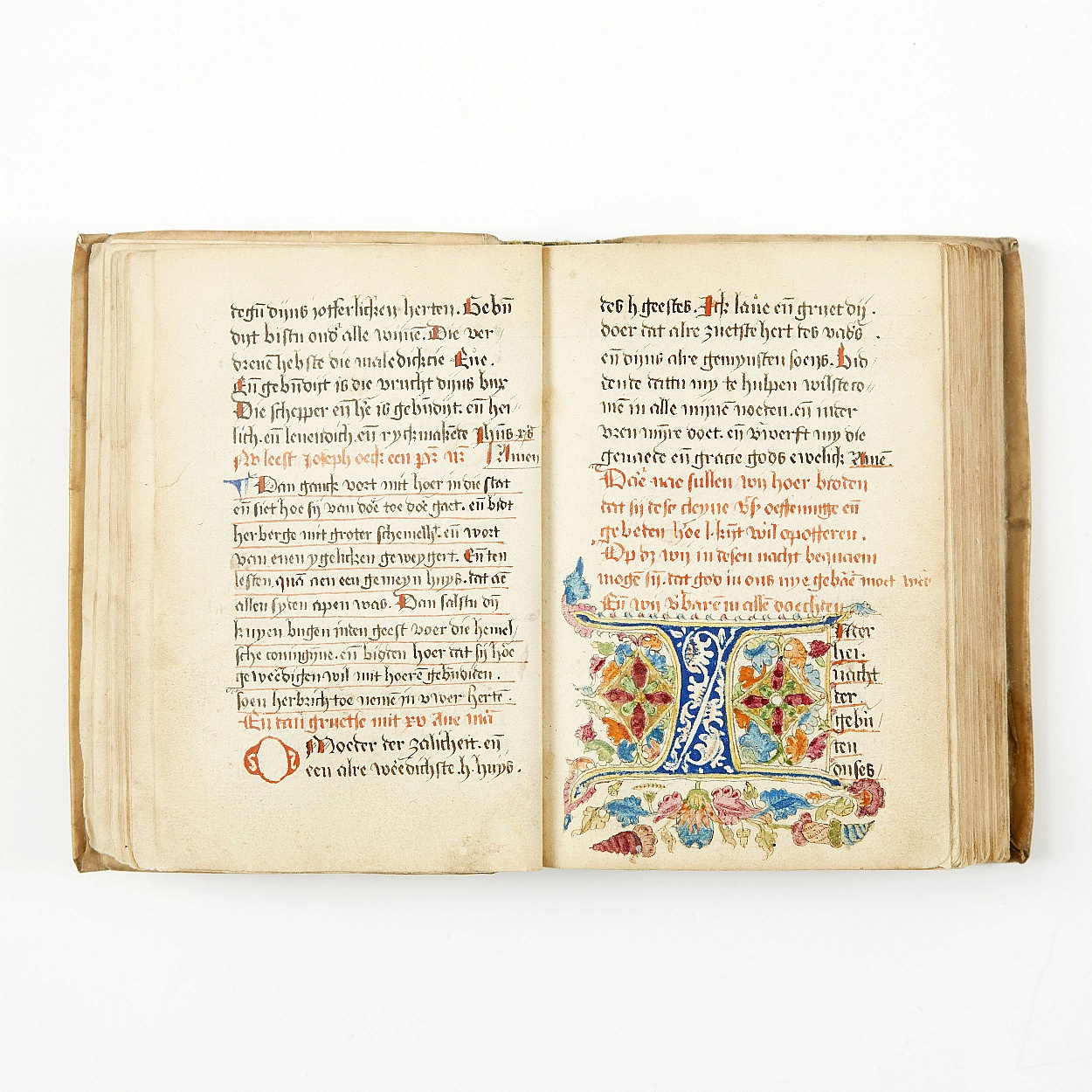 Dutch prayer, 16th century manuscript