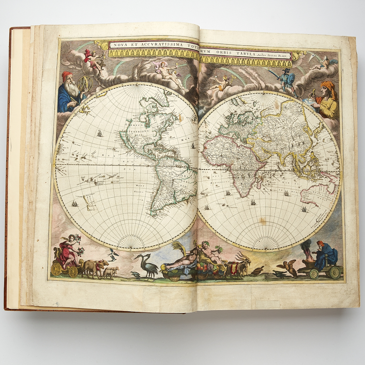Blaeu's atlas Theatrum orbis first two parts 1640