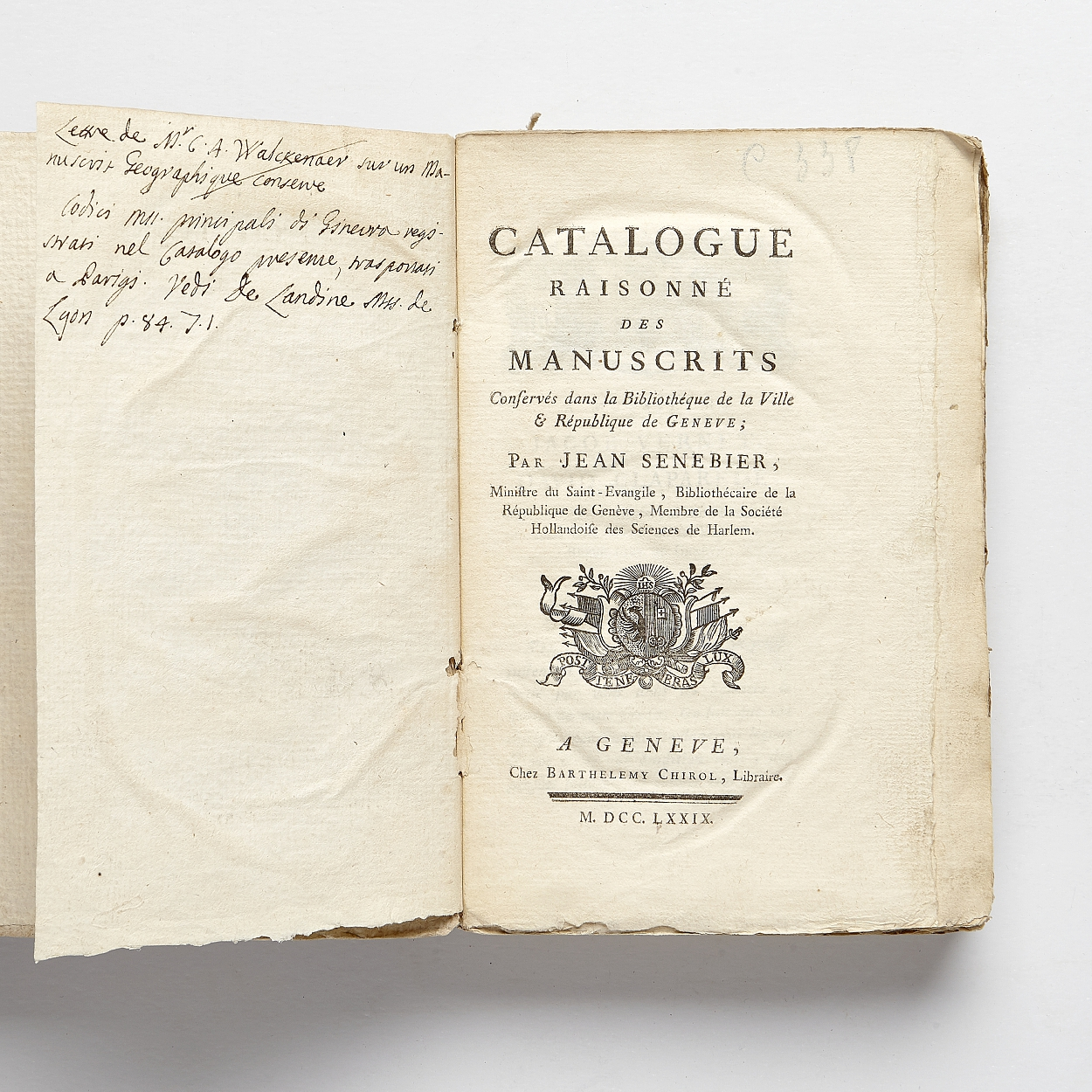 Bibliography of manuscripts in the city of Geneva