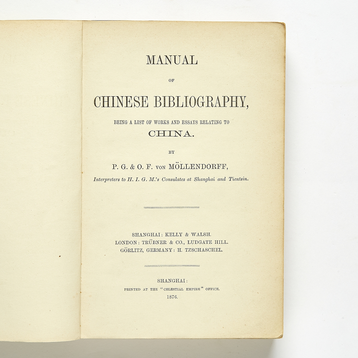 Möllendorff's Manual of Chinese bibliography