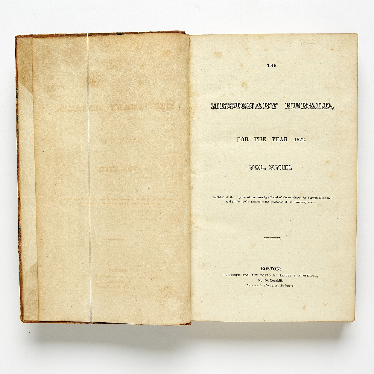 The Missionary Herald 1822-1849