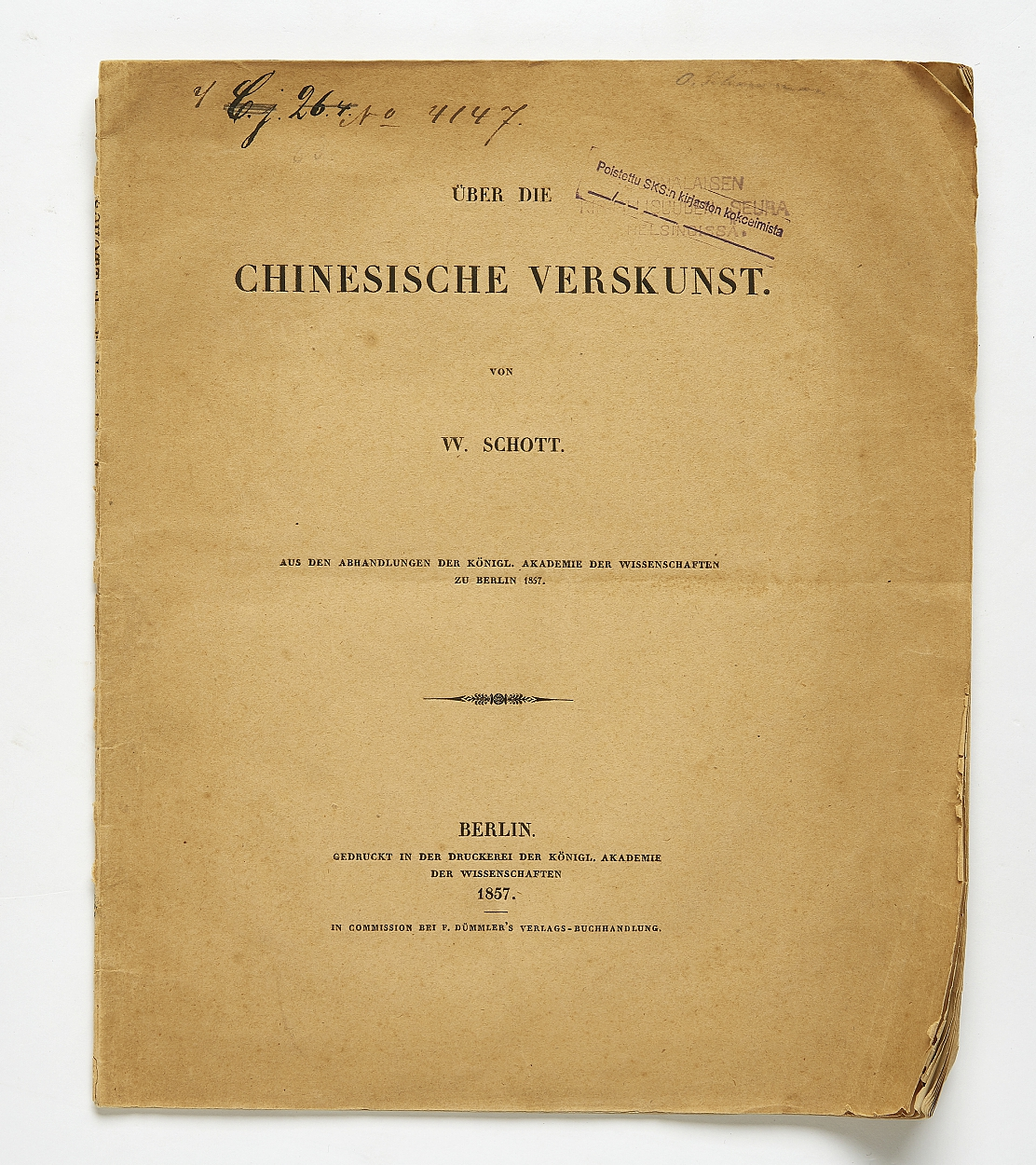 Schott on Chinese poetry 1857