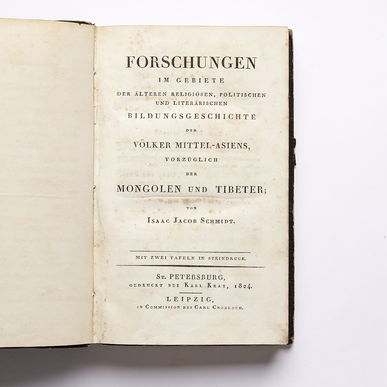On religion a.o. of Mongols and Tibetans 1824