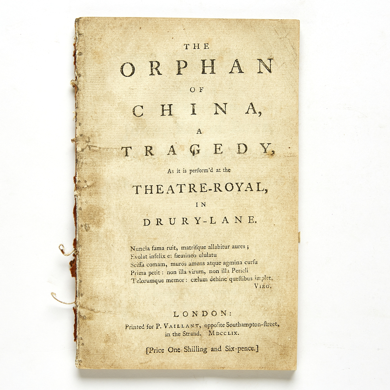 Murphy's play The Orphan of China... 1759
