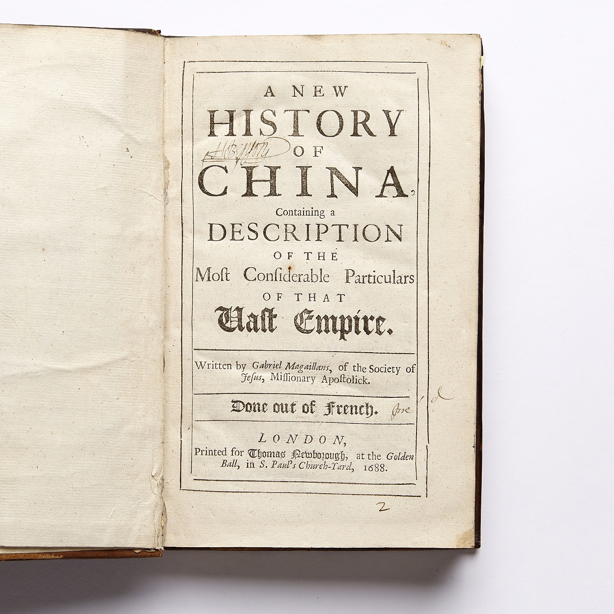 Magaillans' A new History of China 1688