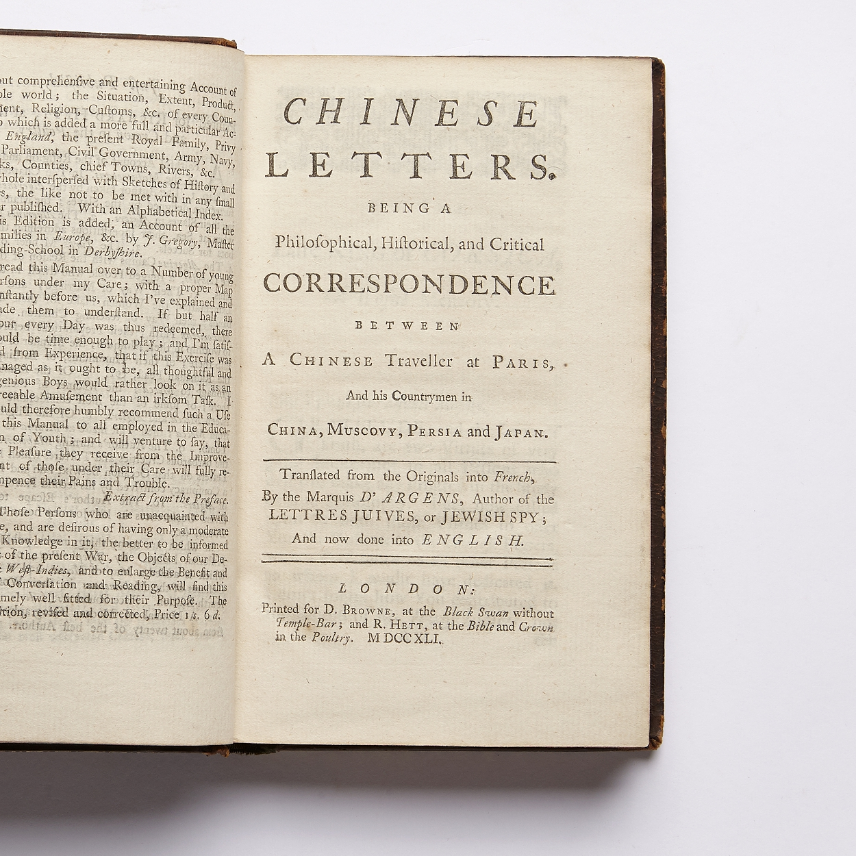 Argens Chinese Letters 1741