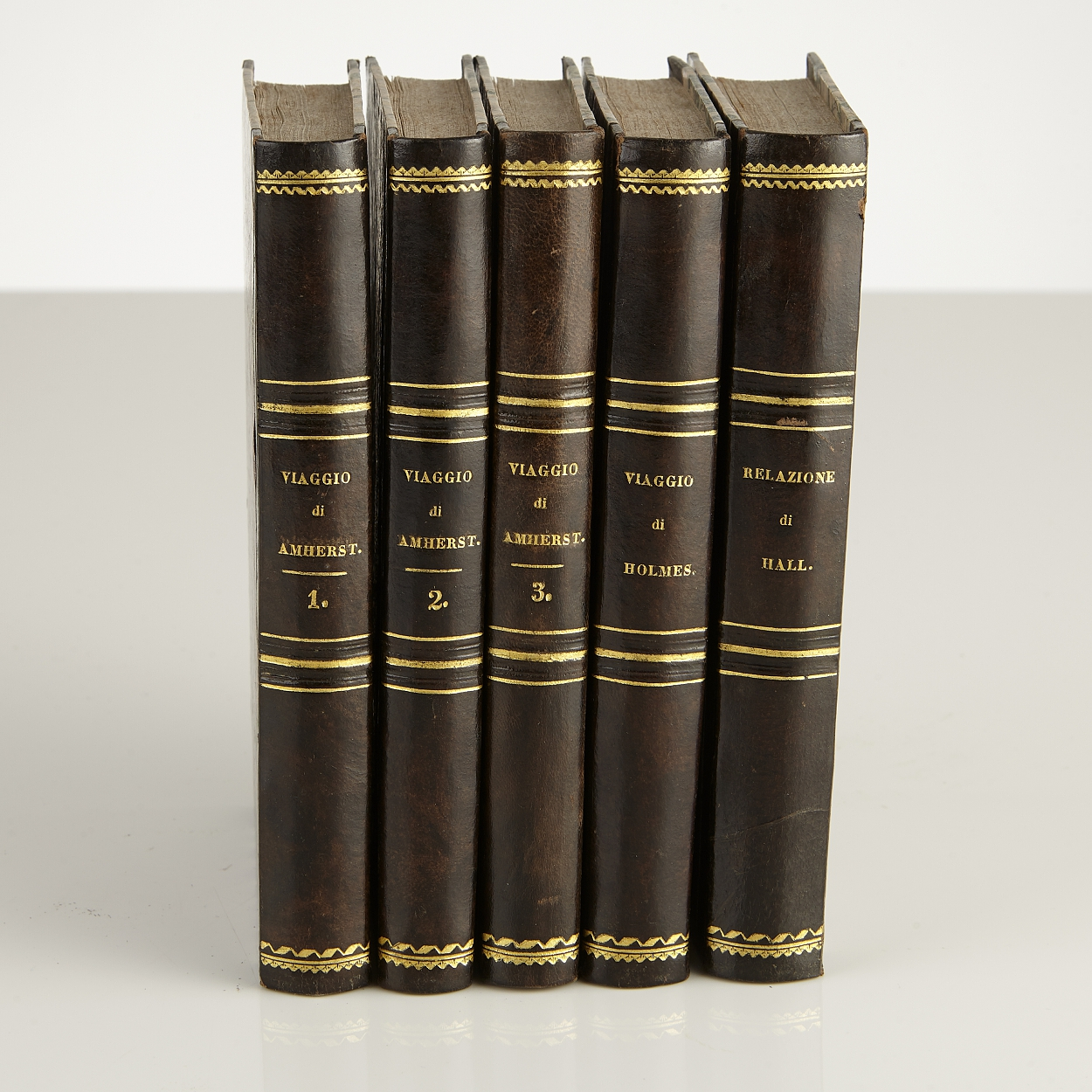 Travels by Holmes, Ellis, and Hall 5 vols.