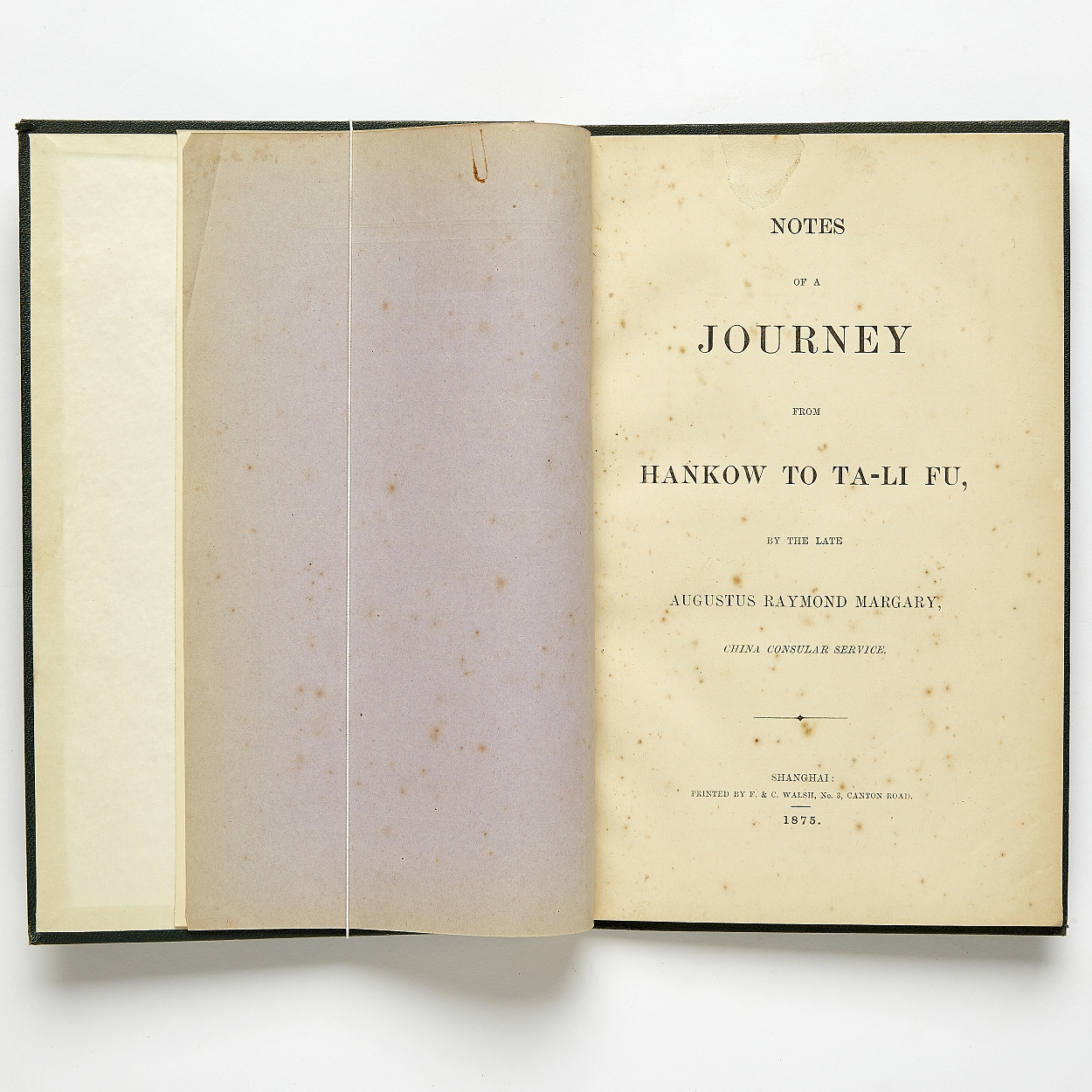 Notes of a journey from Hankow to Ta-li fu 1875