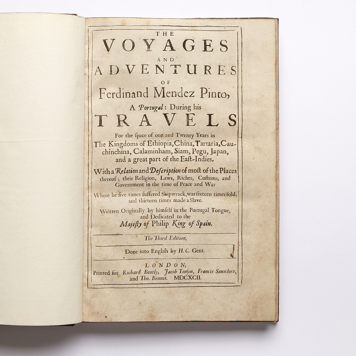 Mendes Pinto's The Voyages... 1692