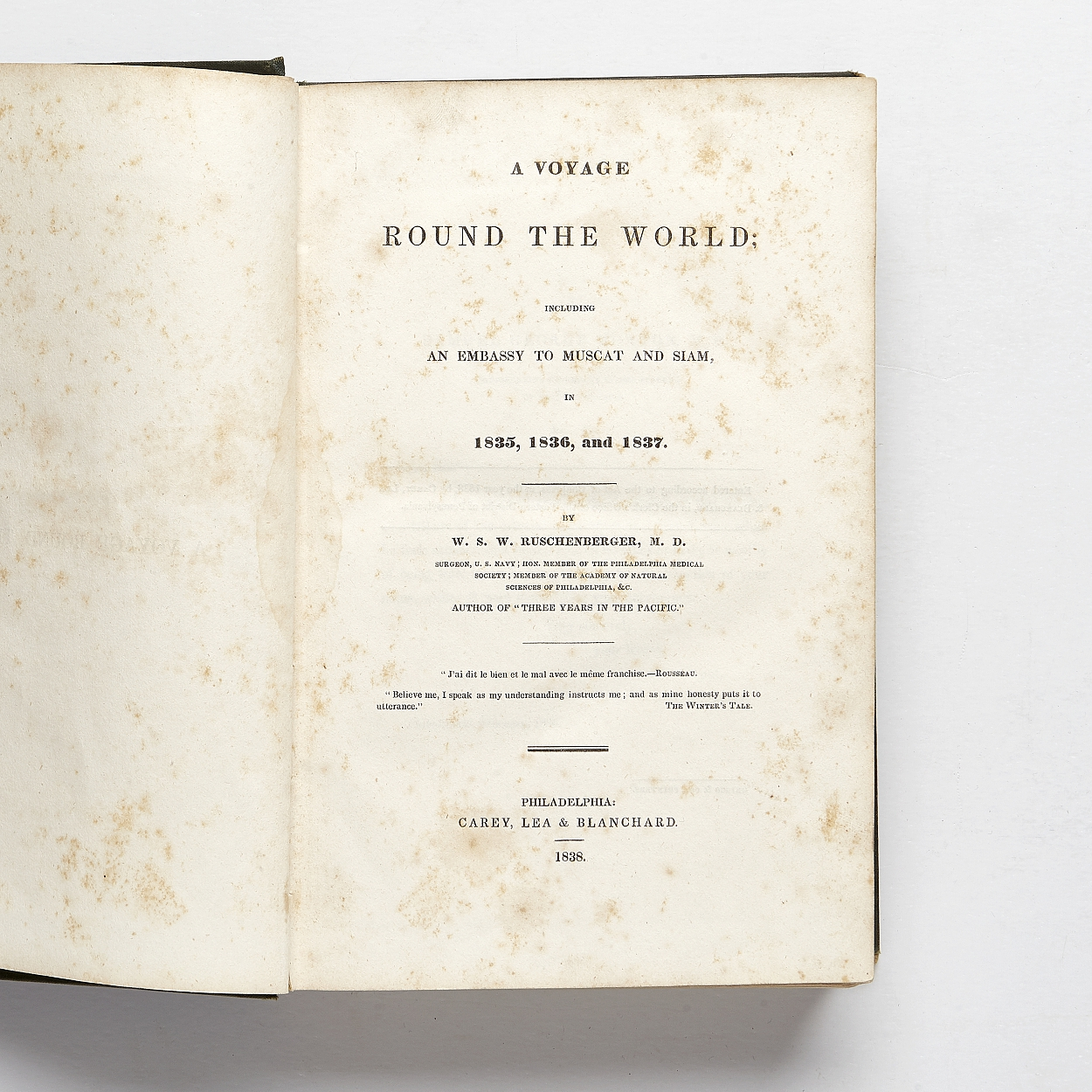Ruschenberger's A voyage round the World 1838