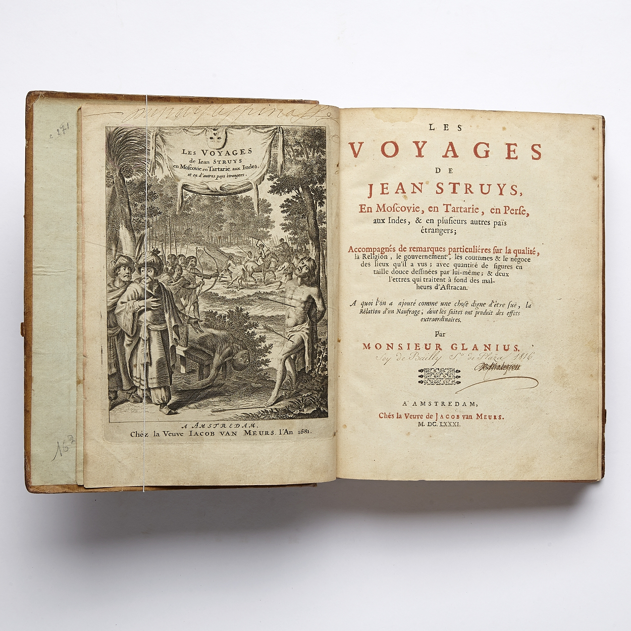 Travels by Struy and Heiden 1676 / 1681