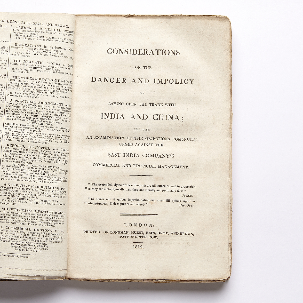 The East India Company and trade with India/China