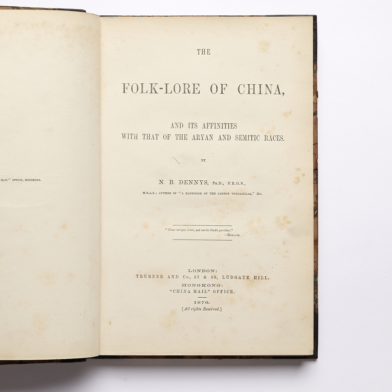 On the folk-lore of China by Denis 1876