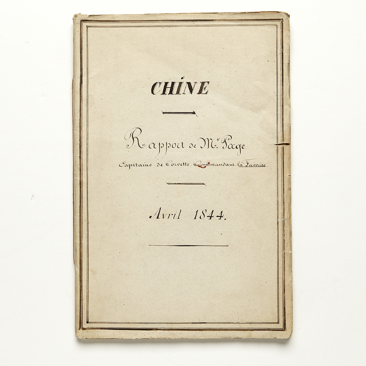 Captain Page's manuscript Report on China in 1844