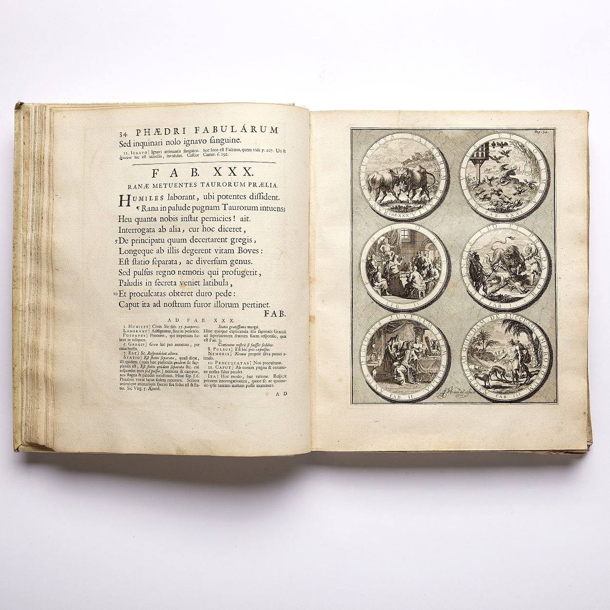 Illustrated edition of Phaedrus's fables from 1701