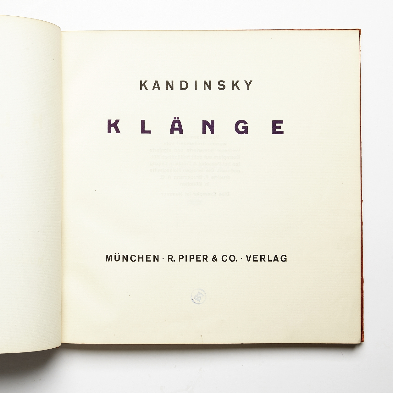 Kandinsky's rare Klänge 1913 signed by the artist