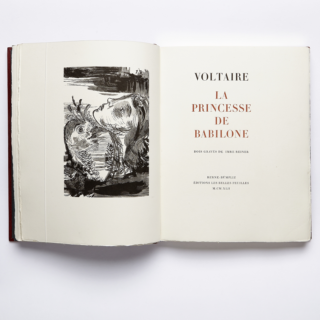Voltaire illustrated by Reiner in binding by Olsen