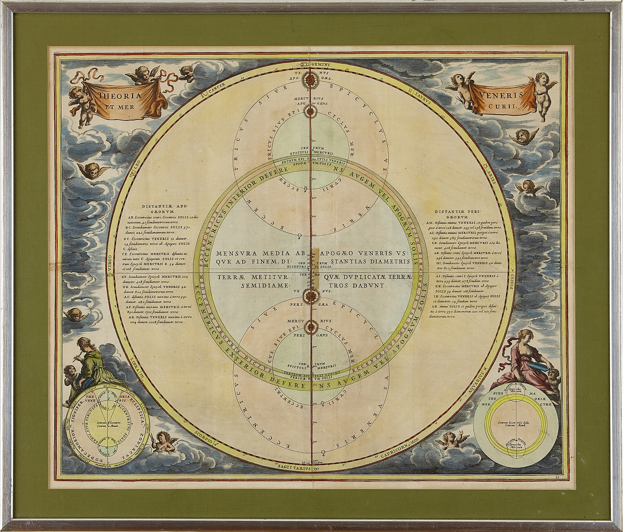 Celestial chart by Cellarius c. 1690