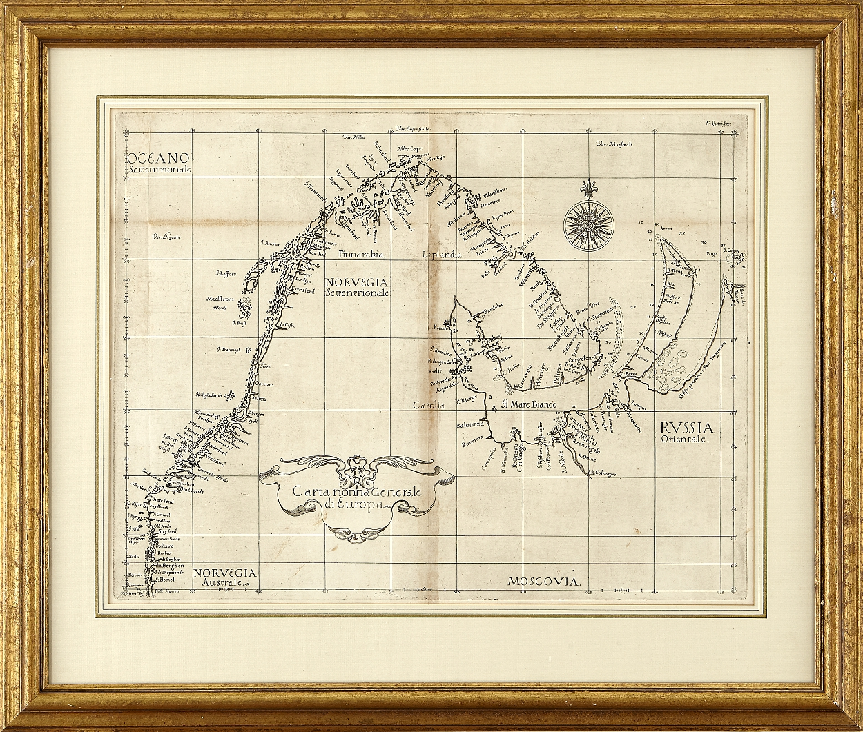 Dudley's chart of the coast of Norway 1646