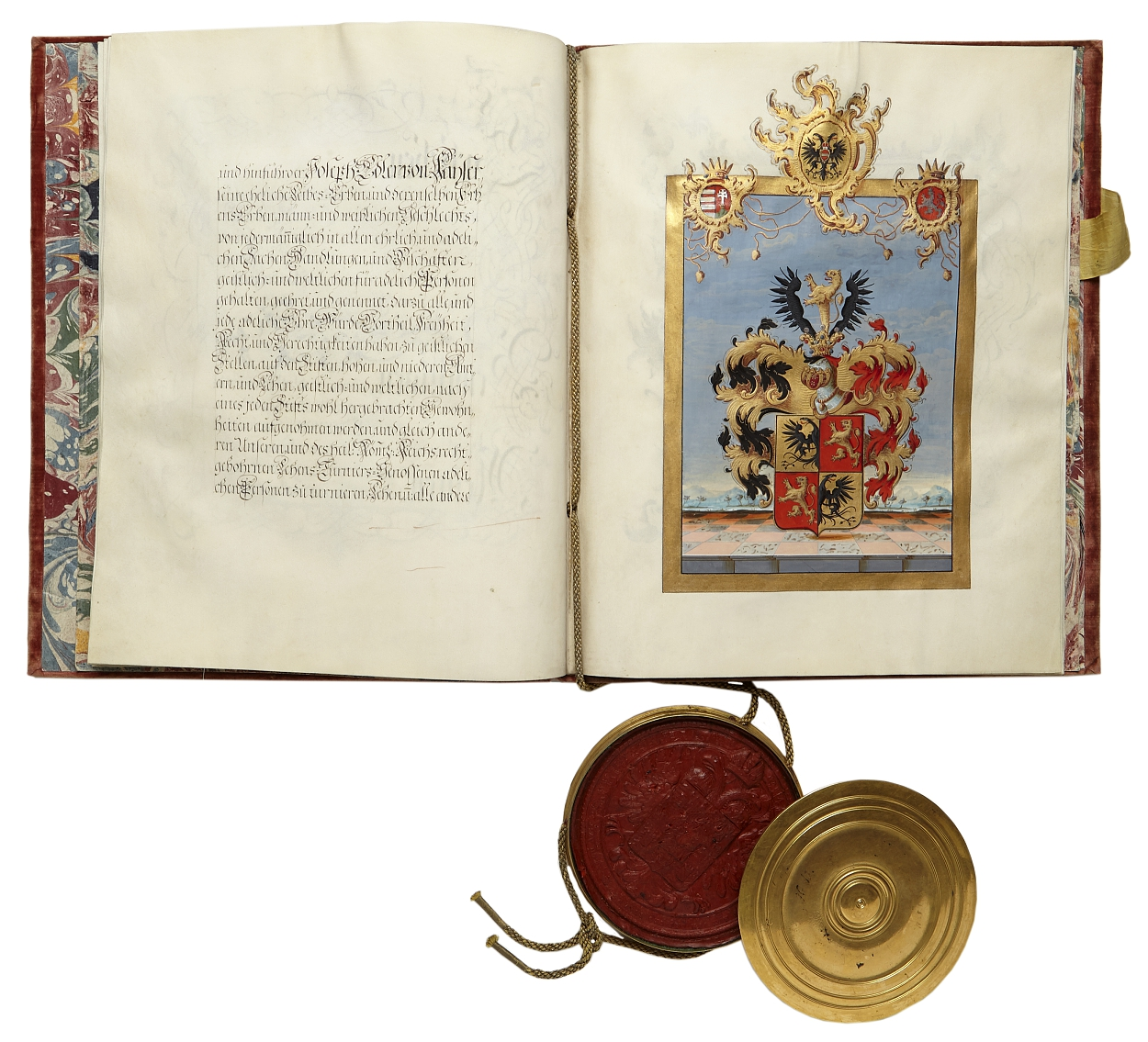 Austrian charter of nobility signed Maria Theresia