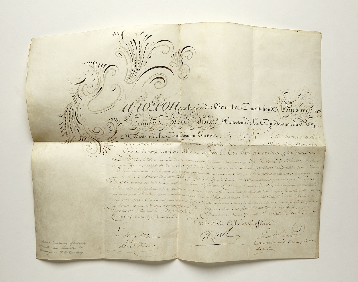 Napoleon signed document St. Cloud 1813