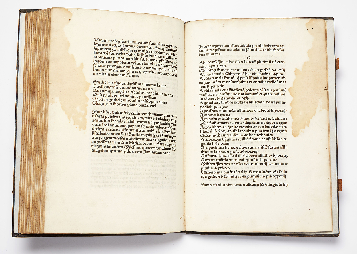 Printed by Zainer in Augsburg 1471