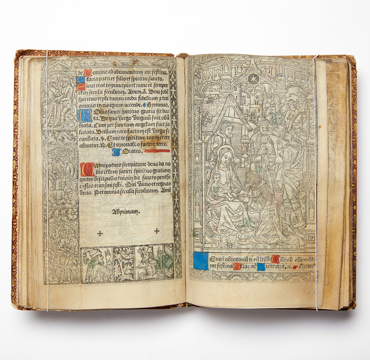 Early printed Book of hours by Th. Kerver.