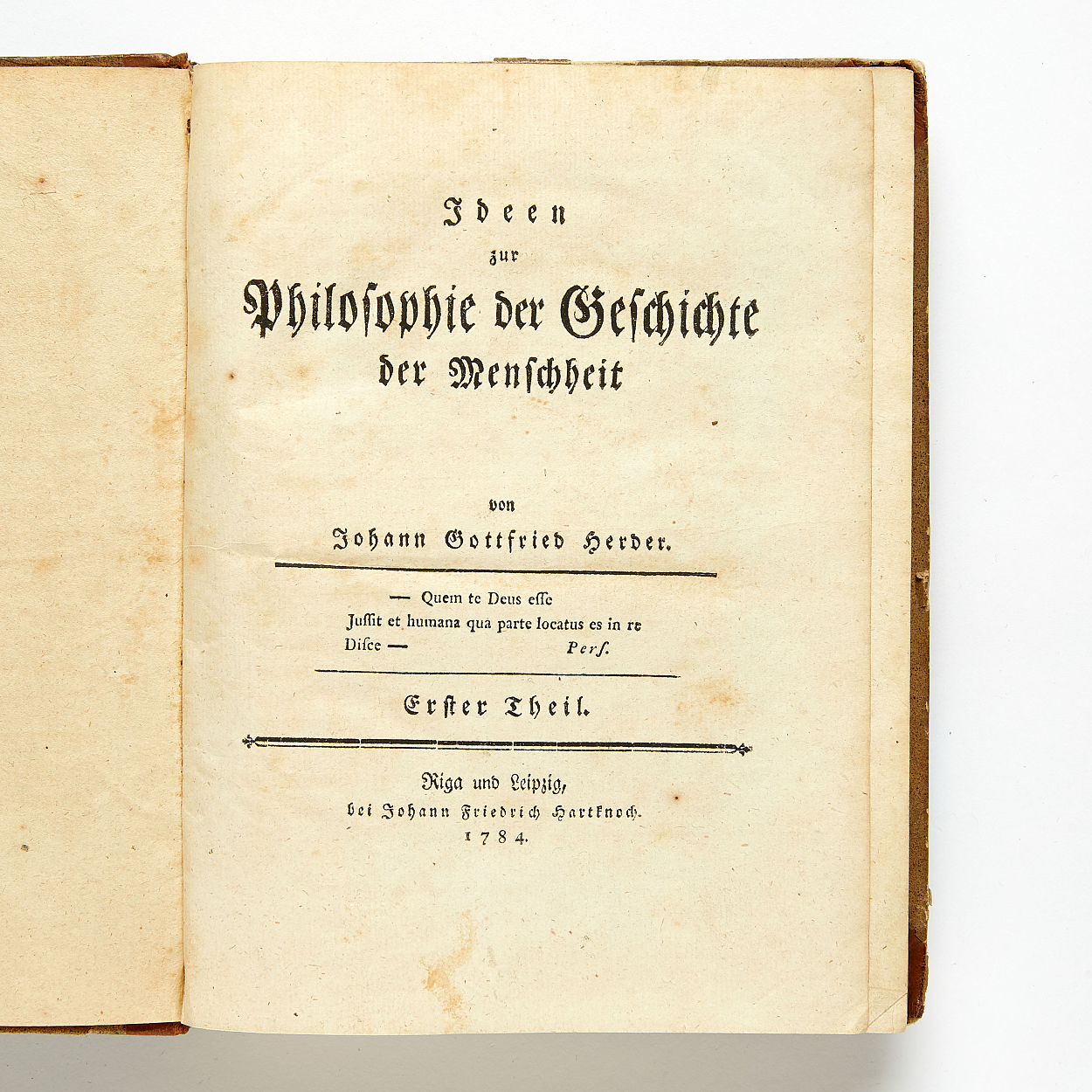 First edition of Herder's magnum opus 1784-91