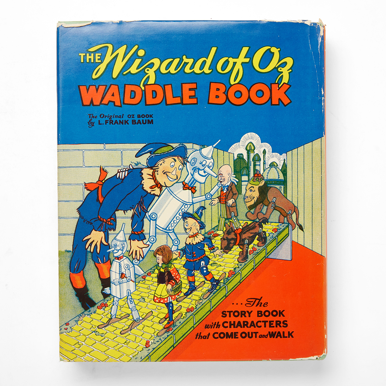 Unusual toy book The Wizard of Oz Waddle Book 1934