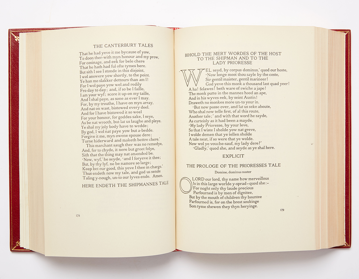 Chaucer in fine binding by Bayntun Riviere