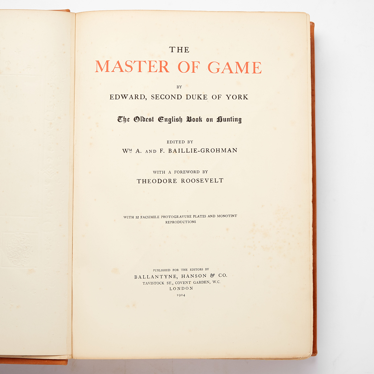 "The oldest english book on hunting in ""facsimile"""
