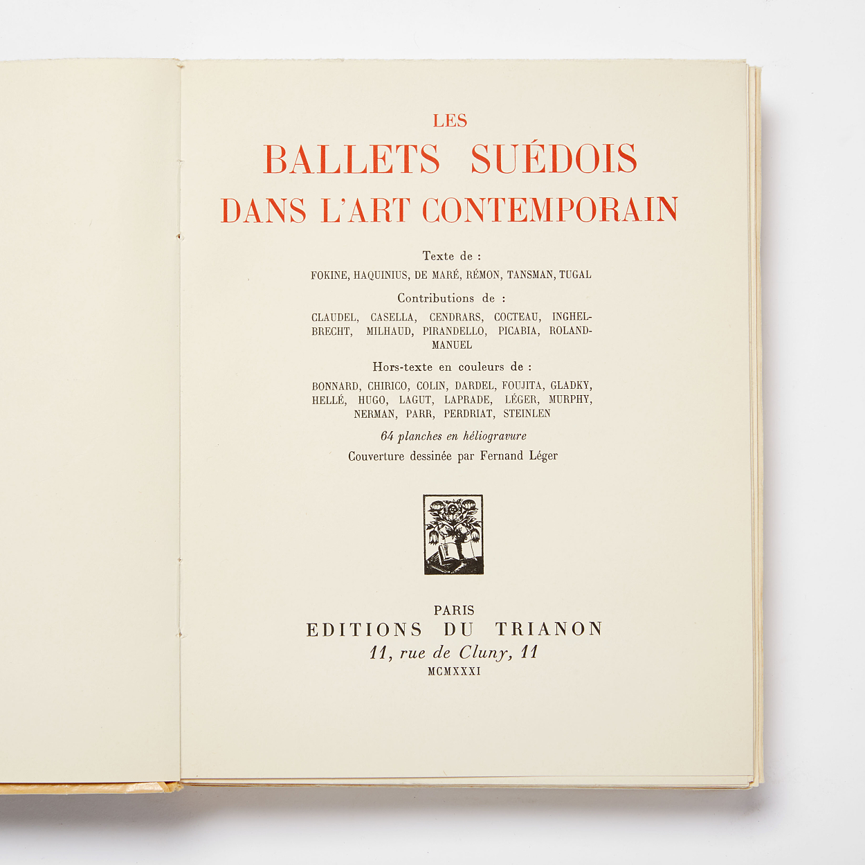 Les Ballets Suedois with plates 1931