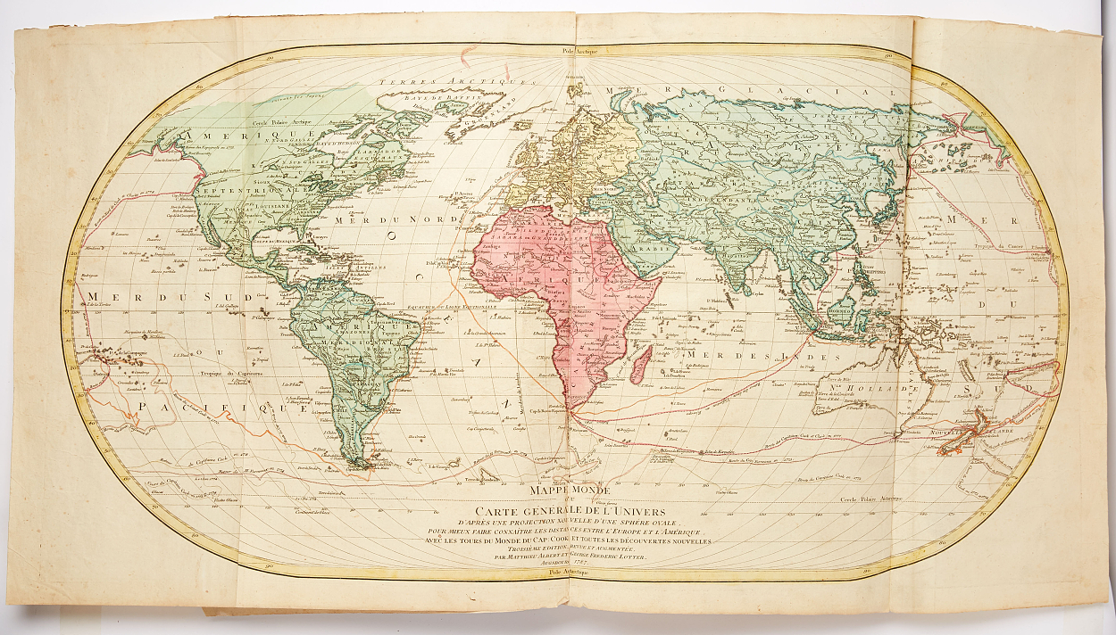 18th century composite atlas with 54 maps