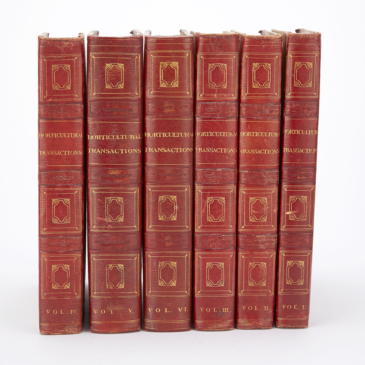Transactions of the Horticultural Society 6 vols.