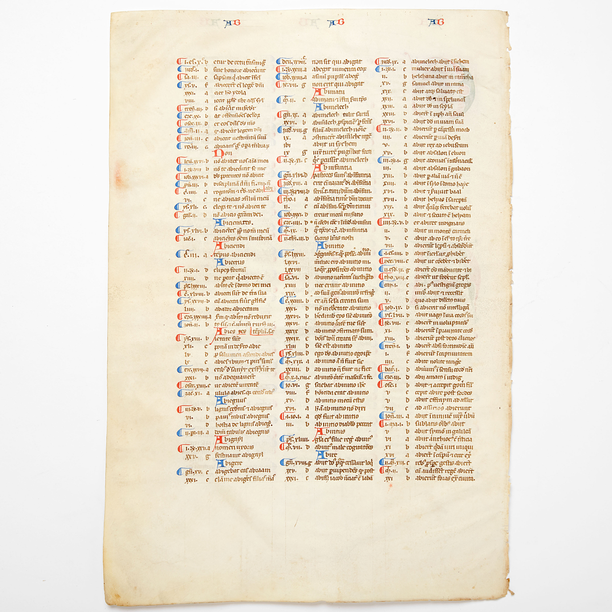 Manuscript leaf 14th c. Saint-Jacques' bible