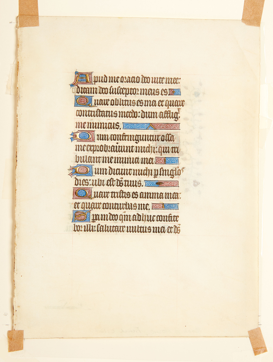 11 manuscript leaves 15th and 16th century
