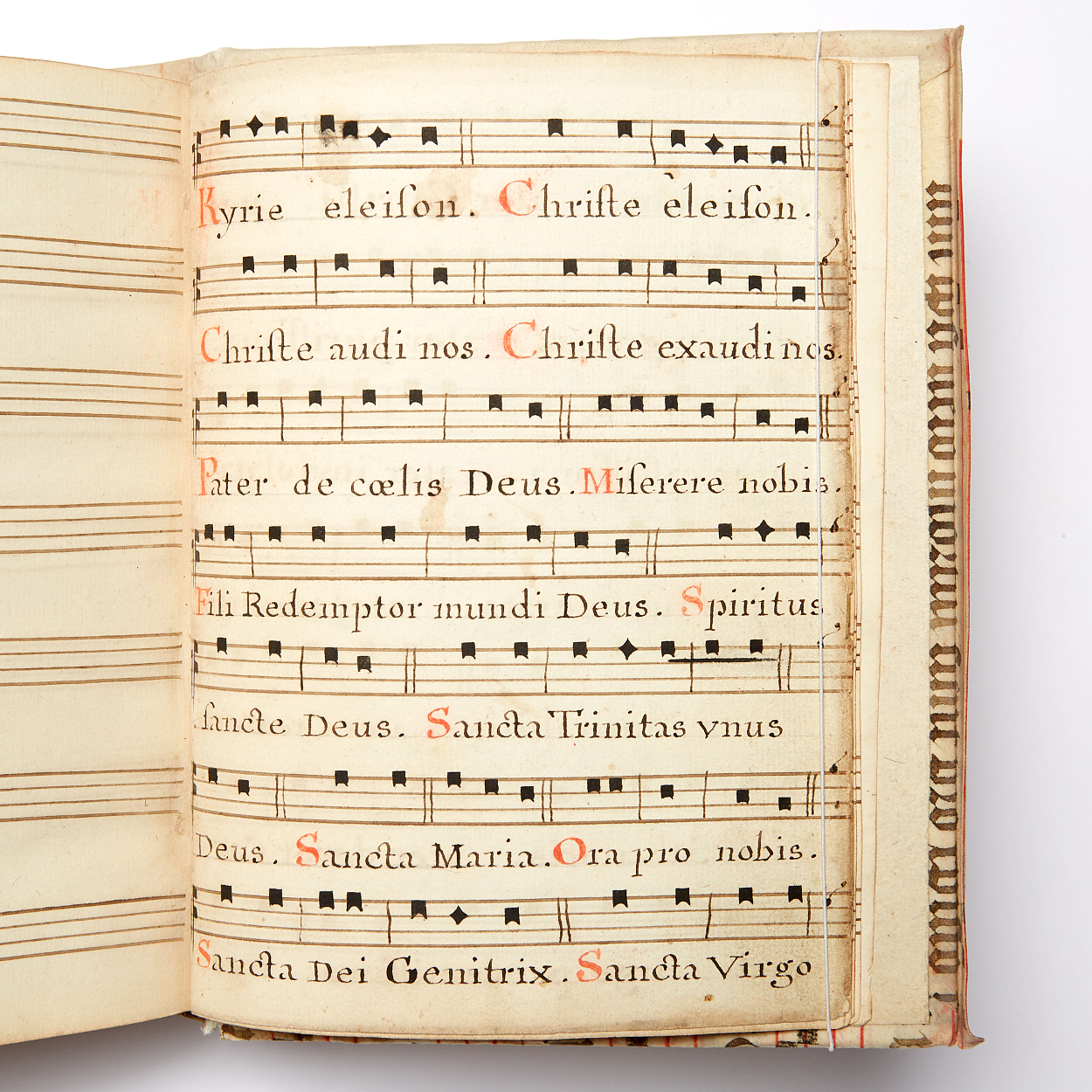 18th century hymnal in manuscript