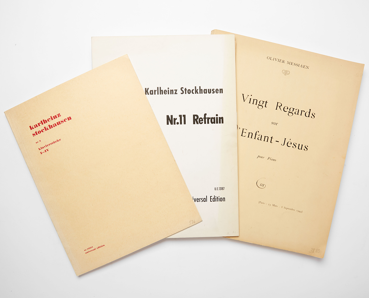 Karl Böhm - two autographed working copies