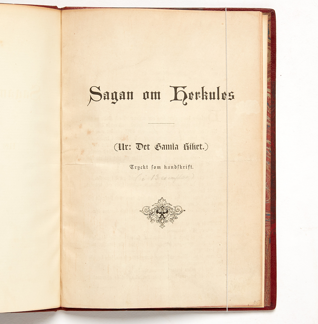 Strindberg Sagan om Herkules 1883 2 vol.